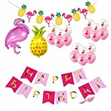 F.Lashes Alles Gute zum Geburtstag Girlande Flamingo Luftballon Deko Party Zubehör Kinder Geburtstag Set Stoff Banner Ballons Dekoration