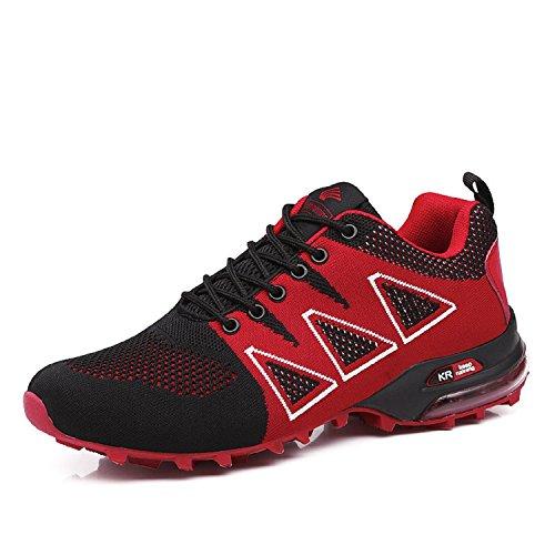 LILY999 Uomo Scarpe da Trekking Leggere Scarpe da Escursionismo Arrampicata All'aperto Sneakers Scarpe da Corsa(Rosso,42 EU)