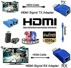 Microware HDMI Dual RJ45 CAT5e/6 HDMI Extender Network Ethernet Adapter HDMI Extender 2Pcs