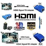 #6: Microware HDMI Dual RJ45 CAT5e/6 HDMI Extender Network Ethernet Adapter HDMI Extender 2Pcs