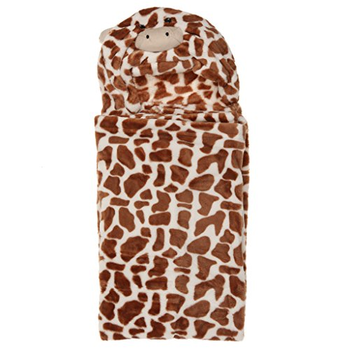 SM SunniMix Baby Pink Hoodie Animal Cute Bademantel Schlafsackbezug 100x100cm - # 6 Leopard