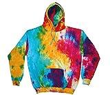 Colortone Regenbogen Tie-Dye Hoodie - Multi Rainbow - M