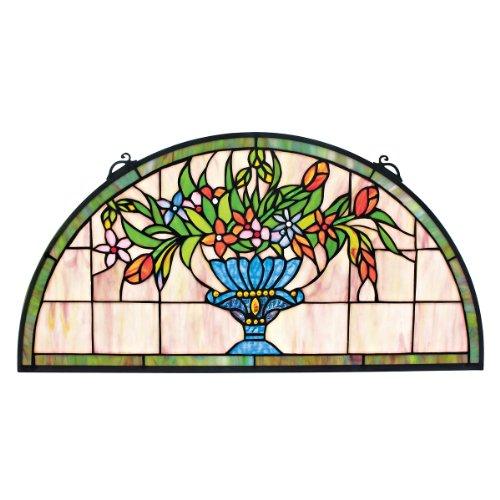Panneau de verre teinté - Titchfield Abbey Demi-Lune Vitrail Tentures - Rideaux