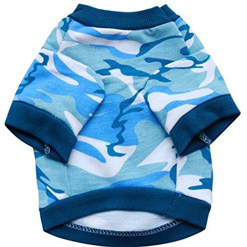 (Hearsbeauty Camouflage Print Winter Haustier-Shirt Sweatshirt Mantel Kleidung Kostüm für kleine Hunde)