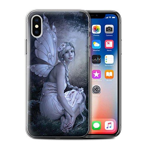 Offiziell Elena Dudina Hülle / Gel TPU Case für Apple iPhone X/10 / Garten Tanzen Muster / Elegante Feen Kollektion Fee von das Land