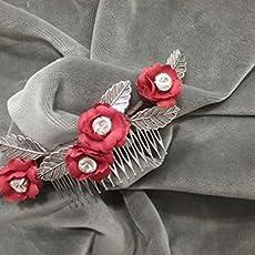 Peineta flores aplicaciones en pedrería