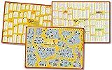 mindmemo Lernposter 3er Set - SPANISCH Vokabeln - LOS PRIMEROS PASOS (Einsteiger) | Grundwortschatz | Aufbauwortschatz - Lernübersicht - DinA1 Sonderauflage - gefaltet