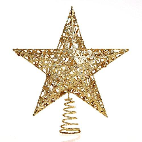 Weihnachtsbaum Stern Weihnachtsbaumspitze Christbaumspitze Glitzernd Glänzend ( 30cm - Gold ) Spitze Aufstecker für Tannenbaum - Dekoration Ornament