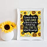Geiqianjiumai Sonnenblume Dekoration Sonnenblume inspirierend inspirierend Zitat Wandkunst Leinwand Bild Poster Familie Wanddekoration rahmenlose Malerei 40x50 cm