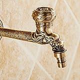GZ-Washing machine tap All-Kupfer antiken europäischen Waschmaschine Wasserhahn Mopp Pool Wasserhahn Langen Wasserhahn Schnell Offen Einzigen Kalten Drachen Wasserhahn