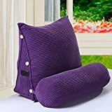 YYHAD Cuscino per divano, cuscino da comodino, cuscino triangolare per divano, sedia da ufficio, cuscino lombare, schienale, cuscino, casa, ufficio, cuscino lombare, k, L