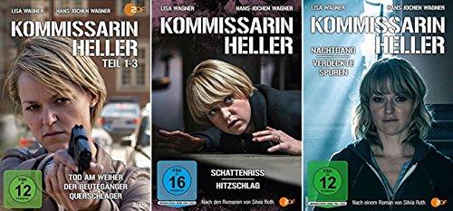 Kommissarin Heller: Teil 1-3 + Nachtgang/Verdeckte Spuren + Schattenriss/Hitzschlag [DVD Set]