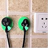 Bazaar 2pcs socket cocina sostenedor del gancho de enchufe niños seguros los niños a proteger la seguridad eléctrica de potencia suspensión de la pared