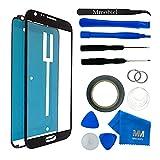 MMOBIEL Kit de remplacement vitre frontale pour Samsung Galaxy Note 2 N7100 N7105 (Noir) écran tactile inclus: Kit d'outillage spécifique / Pincette / Ruban adhésif / Chiffon / fil / d'instructions