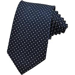 PenSeeCorbata de seda, diseño de lunares, varios colores Dark Blue & White Talla única