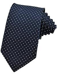 PenSee Mens Silk Tie Polka Dot Formal Necktie-Various Colors