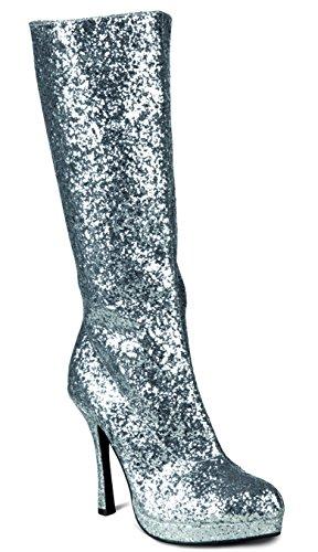 Boland Stiefel Temptation, Glitter silber (In Spanisch Happy Halloween)
