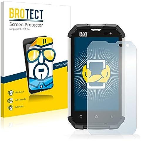 2x BROTECT HD-Clear Pellicola Protettiva Caterpillar Cat B15Q Schermo Protezione – Trasparente, Anti-Impronte - Non Disturbare Cat