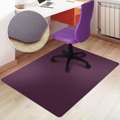 Trendige Bodenschutzmatte für Hartböden | PVC- und phthalatfrei | Lila/Purple | Größe wählbar (120 x 75 cm)