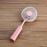 sunnymi Hochwertiger Badmintonschläger Portable Rechargeable Fan Air/Kühler Mini Betriebene Hand USB USB 18650 Akku/Ruhiges langes Leben (Rosa)