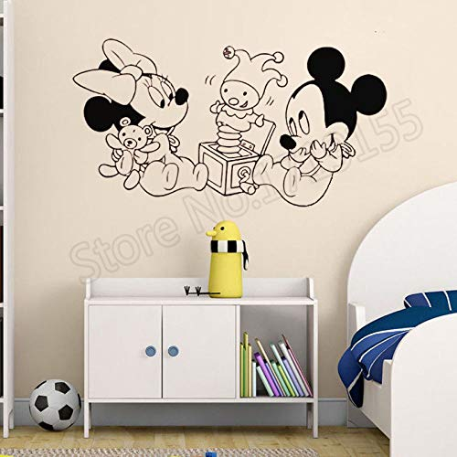 aus Minnie Cartoon Vinyl Wandaufkleber Kunstwand Innen Babys Zimmer Poster Wandtattoo Krankenschwester 57x31cm ()