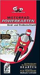 Motorrad Powerkarten Nord- und Ostdeutschland 1 : 250 000. Powerbox: 8 laminierte Kartenblätter plus Tourerguide. GPS-tauglich (Motorrad Powerkarten 1:250.000)