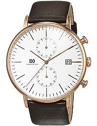 Danish Design Herren-Armbanduhr Chronograph Quarz Leder IQ17Q975