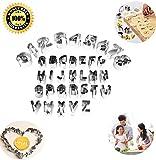 Kleine Ausstechform in Buchstaben- und Zahlen-Design