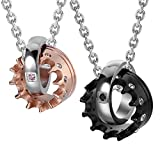Best Couple Necklaces - Crown His & Hers Couple Royal Ring Pendant Review