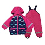 Gagacity Unisex Baby Kids Waterproof & Windproof Raincoat and Pants Spring Autumn Rain Suit with Cute Printed for 6-24 Months