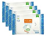 Tulips Toilet Wet Paper Wipes (10 Wipes, Pack Of 4, 40 Sheets)