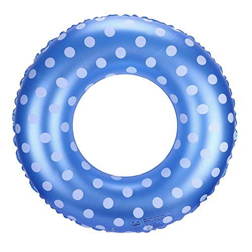 Hunpta Aufblasbarer Schwimmen Ring Pool Fluss See Strand Raft schwimmender Schlauch Ring (Größe 60, Blau)