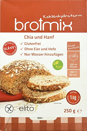 SUKRIN Brotmix Chia-Hanf Backmischung, 1er Pack (1 x 250 g) -