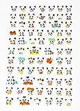 Panda Bär Mini 3D Sticker Pandabär Aufkleber 73 Niedliche Tiere Fotoalbum Scrapbooking Tagebuch Notizbuch Kalender Basteln DIY Handy Laptop