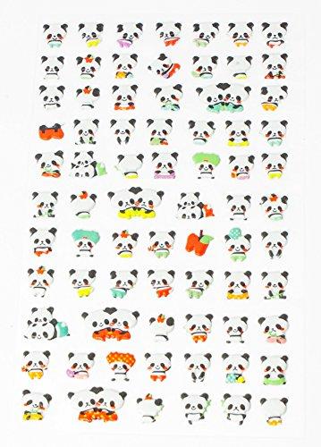 Panda Bär Mini 3D Sticker Pandabär Aufkleber 73 Niedliche Tiere Fotoalbum Scrapbooking Tagebuch Notizbuch Kalender Basteln DIY Handy Laptop (Bären Laptop)
