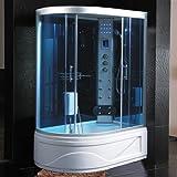 Box Idromassaggio cabina doccia multifunzione 130x85cm versione sinistra con Vasca bagno turco sauna I