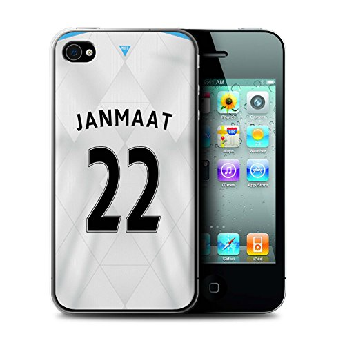 Offiziell Newcastle United FC Hülle / Case für Apple iPhone 4/4S / Pack 29pcs Muster / NUFC Trikot Away 15/16 Kollektion Janmaat