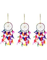 Ryme® Multicolor Dream Catcher Handmade Wall Hanging for Home/Office (Pack of 3)