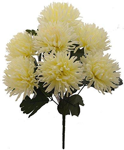 Fourwalls Artificial Chrysanthemum Flower Bouquet (36 cm, White)