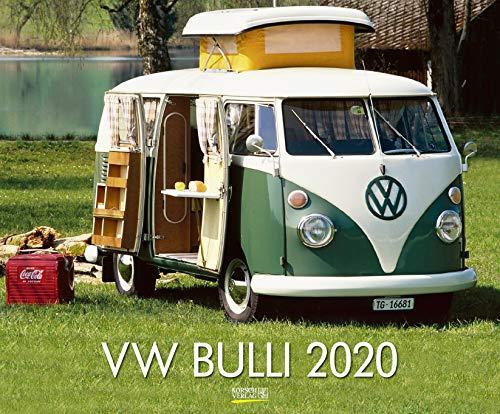 VW Bulli 2020: Großer Wandkalender. Foto-Kunstkalender über den Oldtimer Bus. Querformat 55 x 45,5 cm. Edles Foliendeckblatt. - Bücher Oldtimer über