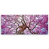 ge Bildet® hochwertiges Leinwandbild Panorama XXL Naturbilder Landschaftsbilder - Rosa Lapacho Baum in Pocone - Brasilien - Natur Baum Pink Lila - 120 x 50 cm einteilig 2213 B