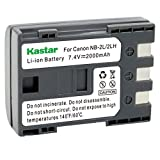 #3: Kastar Battery for Canon NB-2LH NB-2L NB2LH NB2L BP2L and Canon Elura 85 90 MV800 800i 900 920 EOS 350D 400D PowerShot G7 G9 S70 S80 R100 R11 Camera