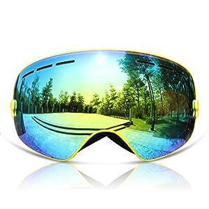 GANZTON Skibrille Snowboard Brille Doppel-Objektiv UV-Schutz Anti-Fog Skibrille Für Damen und Herren Jungen und Mädchen