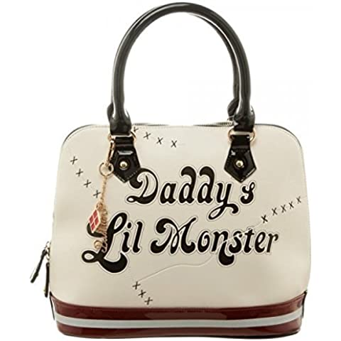 DC Comics Suicide Squad Daddy's Lil Monster Dome Satchel Purse - Squadra Di Baseball Mazza