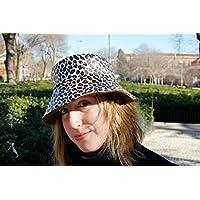 Sombrero Impermeable - Leopardo - Gorro de lluvia hecho a mano con tela impermeable y forro polar en el interior