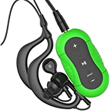 Aerb 4G impermeable reproductor de MP3 para swimming, surfing, rowing, skiing, water sports or synchronised swimming (IPX8 est¨¢ndar), color verde
