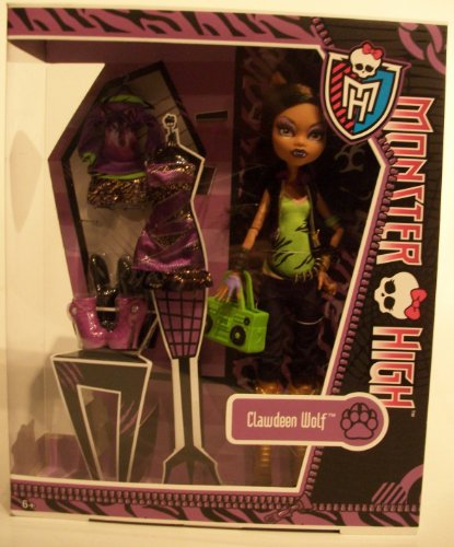 Monster High Clawdeen Wolf Tochter des Werwolfs mit Fashion Set - 3 Outfits inklusive / Mattel 2013