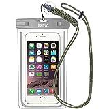 EOTW Housse étanche, Certifiée IPX8 pour Téléphone de taille égale et inférieure à 6'', argent, écran solaire bâton, carte/ID etc, idéal pour natation, la plage, pêche, la randonnée (Gris, 6 INCH)