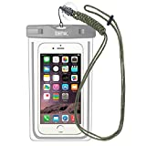 EOTW IPX8 Wasserdichte Tasche, Wasser- und staubdichte Hülle für Geld, Datenträger und Smartphones bis 15,24 cm (6 Zoll), Ideal für den Strand, Wassersport, fürs Radfahren, Angeln, usw. Gray