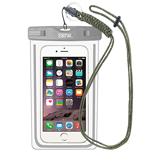 EOTW IPX8 Wasserdichte Tasche, Wasser- und staubdichte Hülle für Geld, Datenträger und Smartphones bis 16,51 cm (6,5 Zoll), Ideal für den Strand, Wassersport, fürs Radfahren, Angeln, usw. Gray